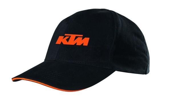 KTM Kappe schwarz/orange Baumwolle und Elasthan